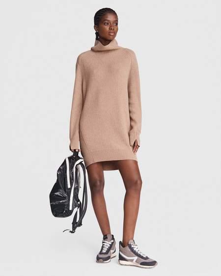 Rag & Bone Pierce Turtleneck Mini Dress - Camel