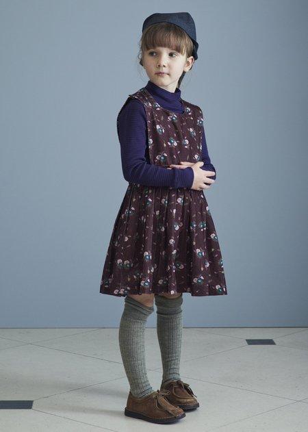Kids Caramel Jupiter Dress - Brown Thistle Print