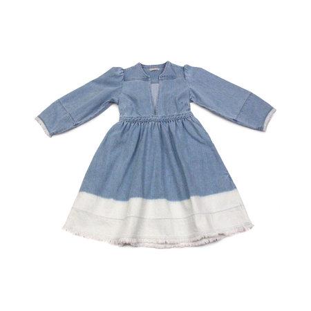 Ulla Johnson Alina Dress in Bleached Denim Ombre