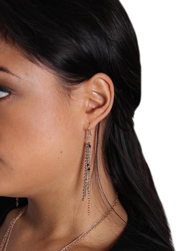 Mixed Metal Chain Earrings