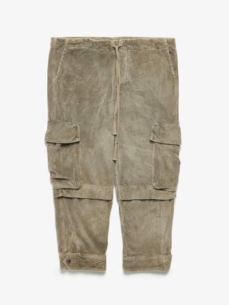[Pre loved] Greg Lauren Velvet Cargo Cotton Pants - Khaki