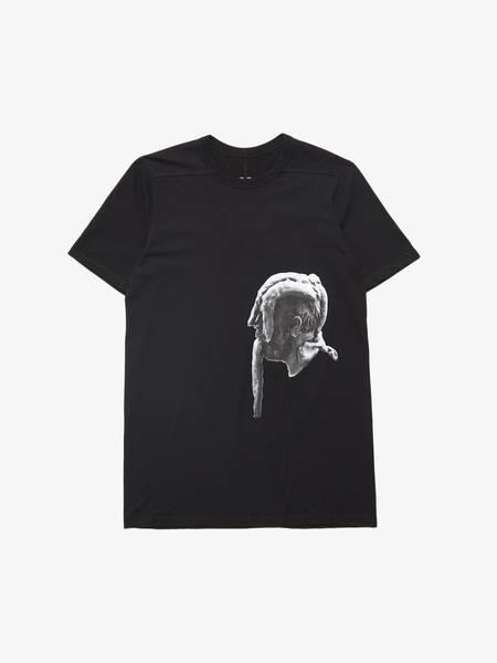 Rick Owens M Black Cotton Head Printed T-Shirt SS20