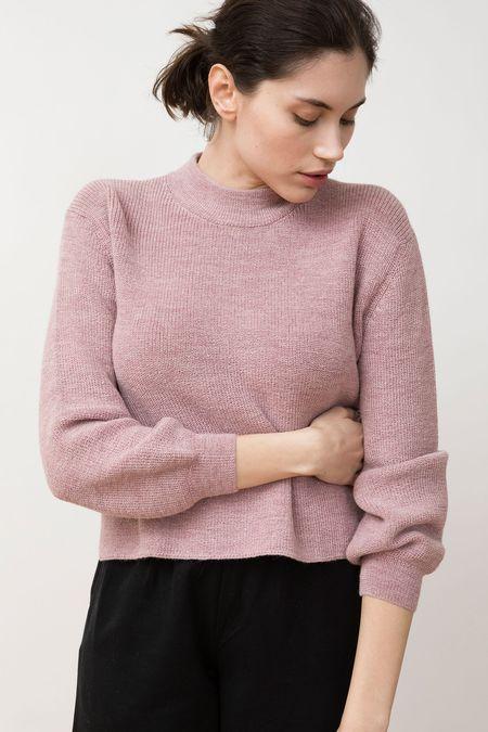 Jungle Folk Knit Sweater - Helo Himalaya Pink