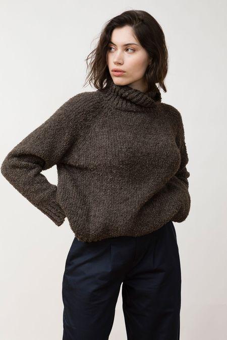 Jungle Folk Knit Sweater - Ode Undyed Anthracite