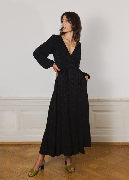 Komana Beatrix Wrap dress - black