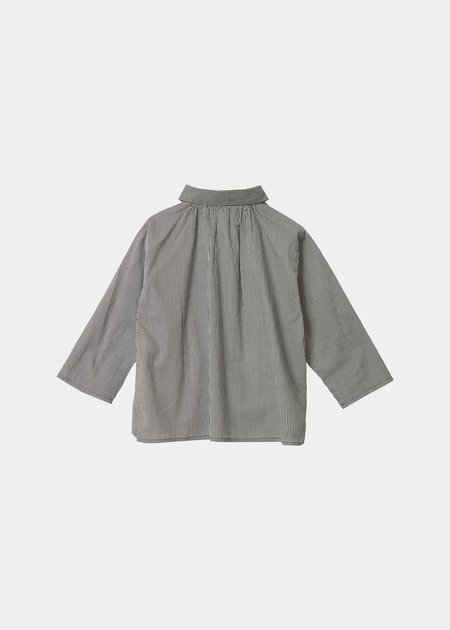 kids Caramel Eos Baby Shirt - Blue Gingham Check