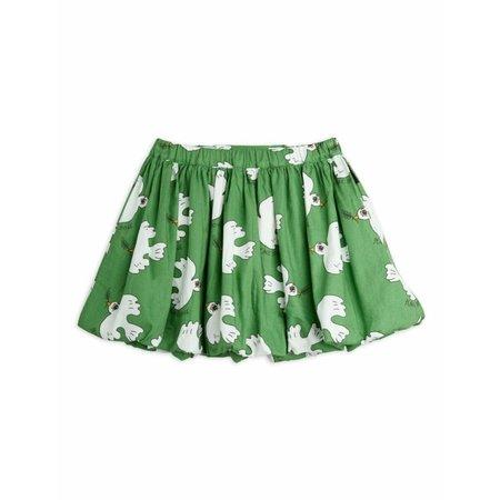 kids mini rodini dove allover woven bubble skirt - green
