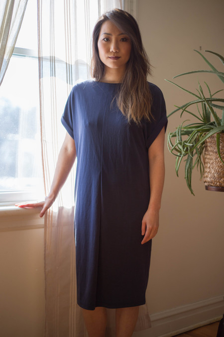 Valérie Dumaine Fern Dress - Navy