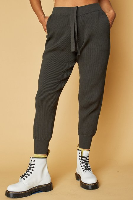 Back Beat Co. Organic Cotton Surf Jogger pants - Vtg. Black