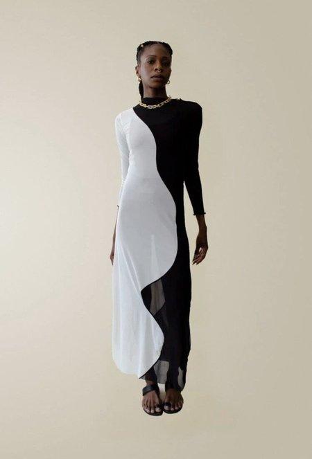 Nin Studio Swirl Dress - Black/Ivory