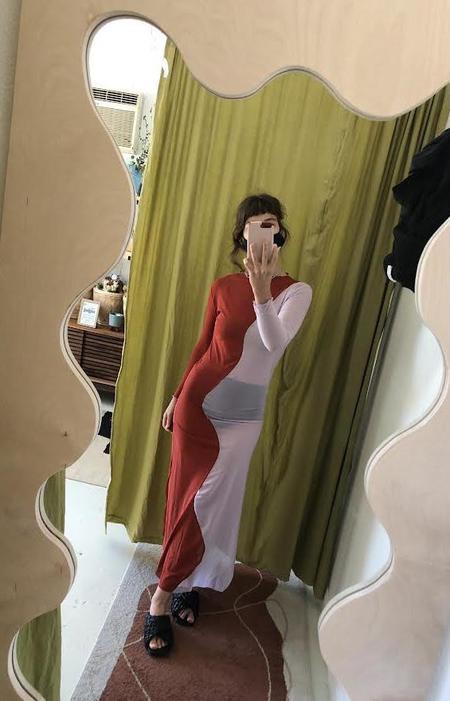 Nin Studio Swirl Dress - Red/Lavender