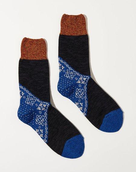 Kapital 96 Yarns Bandana Socks - Blue