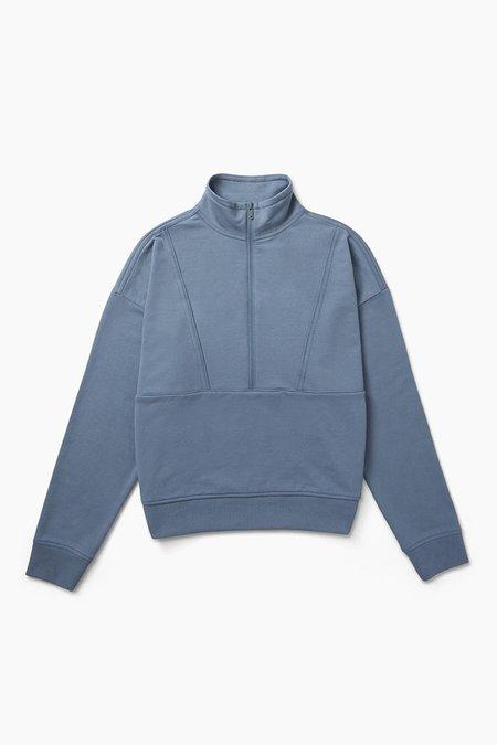 Richer Poorer Terry Half Zip Sweatshirt - Blue Mirage