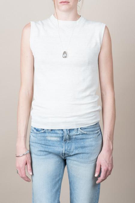 Evam Eva Linen Vest In Antique White