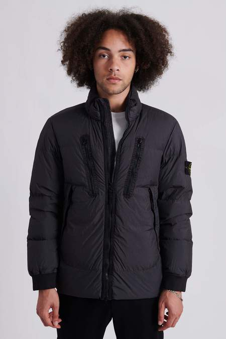 Stone Island 40223 Garment Dyed Crinkle Reps Nylon Down Jacket - Charcoal