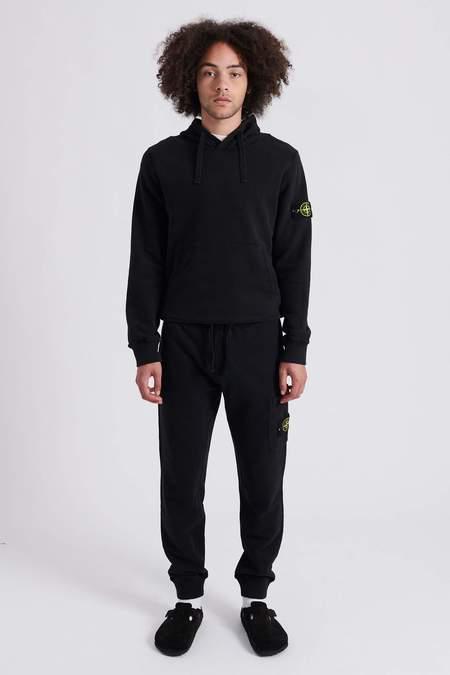 Stone Island Brushed Cotton Fleece Sweat Pants - Black