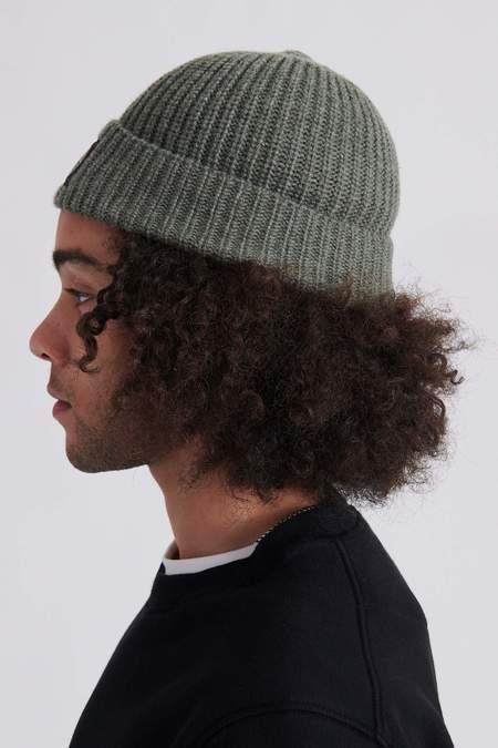 Stone Island N10B5 Geelong Wool Knit Hat - Sage