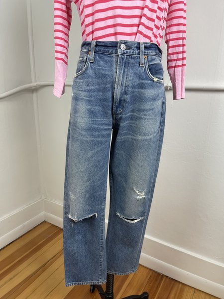[pre-loved] Citizens of Humanity Dree Crop High Rise Slim Straight Denim - Blue