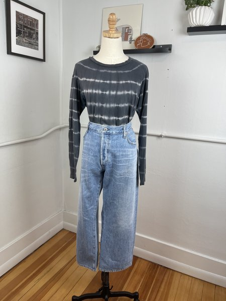 [pre-loved] Citizens of Humanity Emery High Rise Relaxed Crop - blue