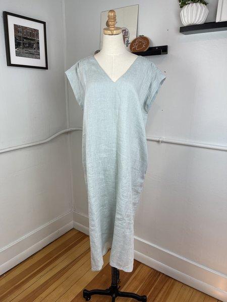 [pre-loved] LAUDE the Label Aqua Linen Maxi Dress - aqua