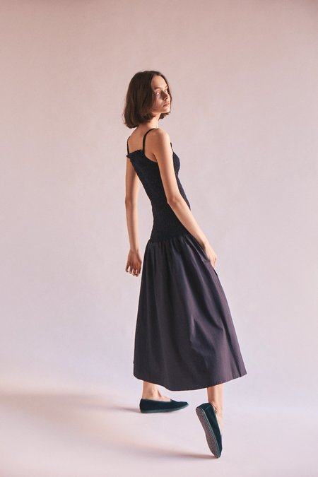 Wellington Factory Lou Shirred Dress - Black