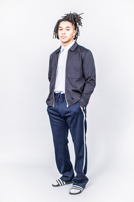 Our Legacy Tricot Blouson Navy Team