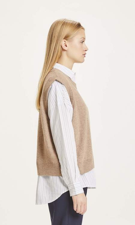 Knowledge Cotton Apparel Myrthe Lambswool Vest