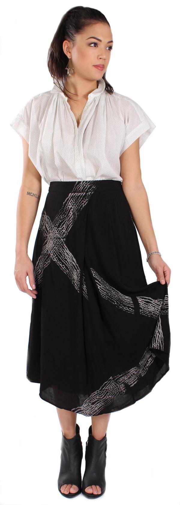 Tina + Jo Pleat Front Midi Skirt