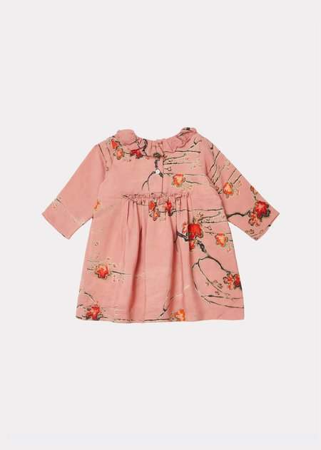 Kids Caramel Edmee Baby Dress - Orchid Print