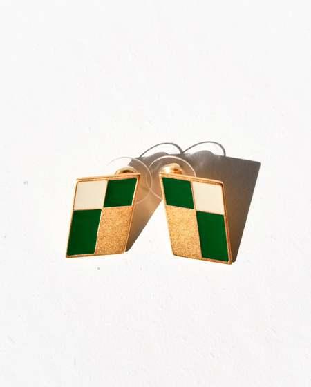 MATTER MATTERS Kite Studs - Dark Green