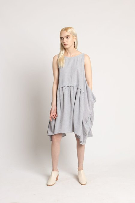 Rachel Comey Black Stripe Popcorn Dress