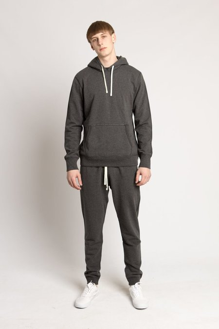 Reigning Champ Charcoal Mid Weight Terry Pullover Hoodie