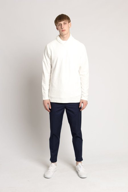 Wings + Horns White Loop Knit Hooded Pullover