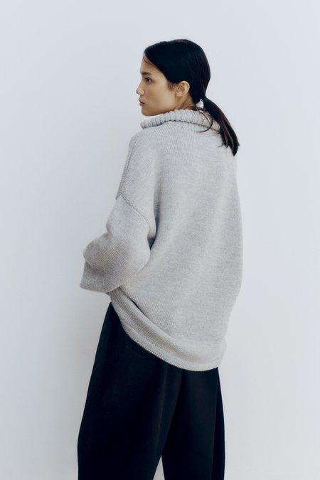 Mónica Cordera Ecowool Polo Jacket - Silver grey