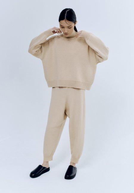 Mónica Cordera Wool Saddle Sweater - Beige