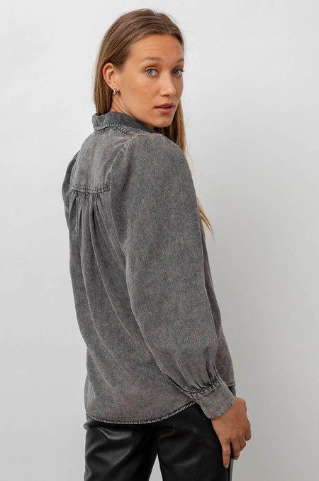 Rails Angelical Shirt in Black Acid Wash