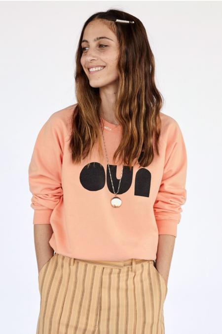 Clare Vivier OUI Sweatshirt - Coral