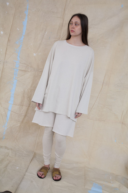 Lauren Manoogian Cashmere Oversized Sweater in Almond
