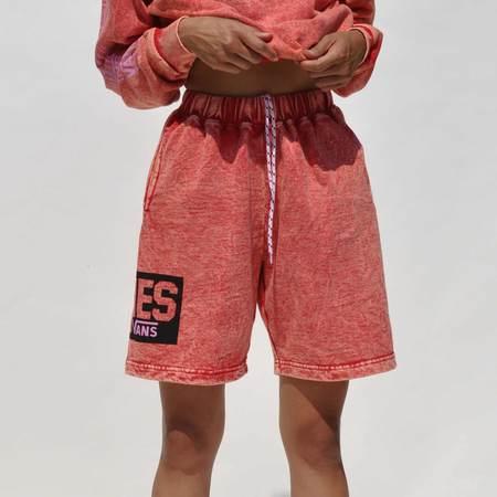 Vault by Vans x Aries Acid Wash Fleece Shorts - RED