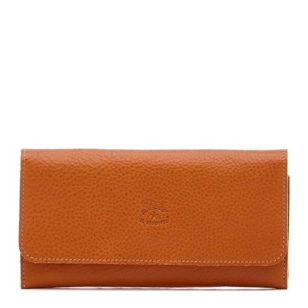 IL Bisonte Continental Wallet - Caramel Cowhide Double Leather