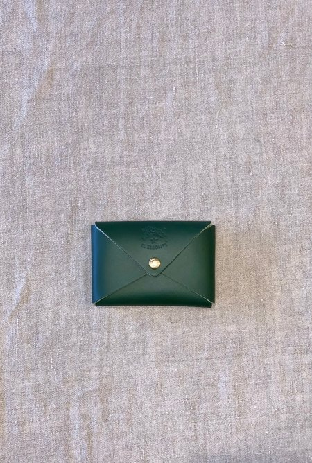 Il Bisonte Card Case - Green Cowhide Double Leather
