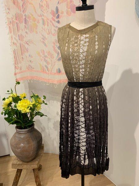 Viviana Uchitel silk dress - Beige/Black