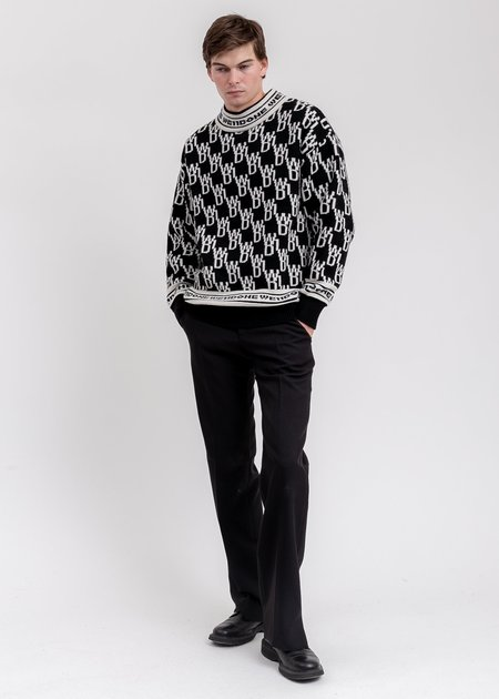 we11done WD1 Allover Logo Jumper sweater - Black