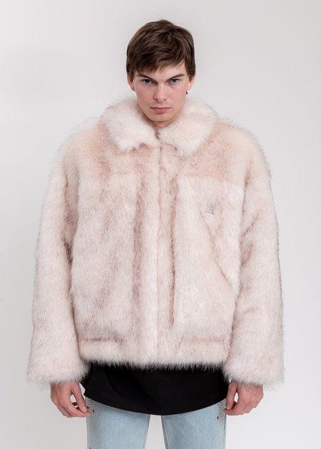 we11done Faux Fur Trucker Jacket - Pink