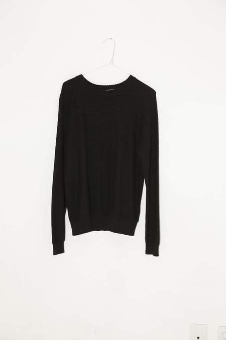 giu giu Brickstitch Crewneck Sweater - Black