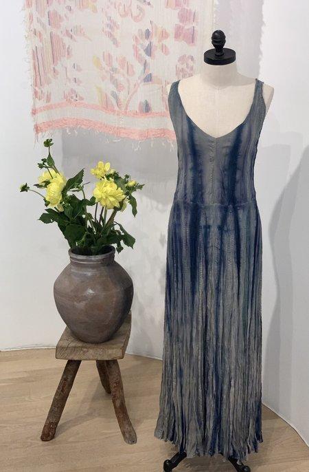 Viviana Uchitel Silk Acquerelle Dress - Blue