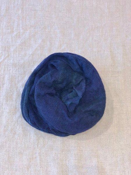 Mint Italian Cashmere Jersey Scarf - Mix Blue