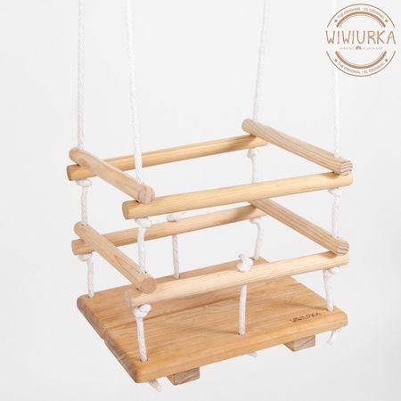 Kids Wiwiurka Wooden Swing Chair for Babies