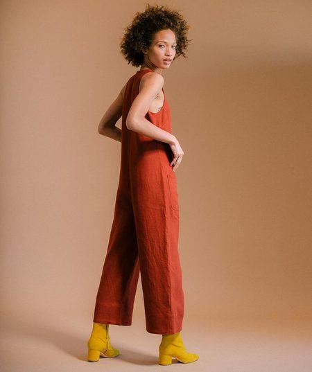Nomia Cropped Jumpsuit - Brick