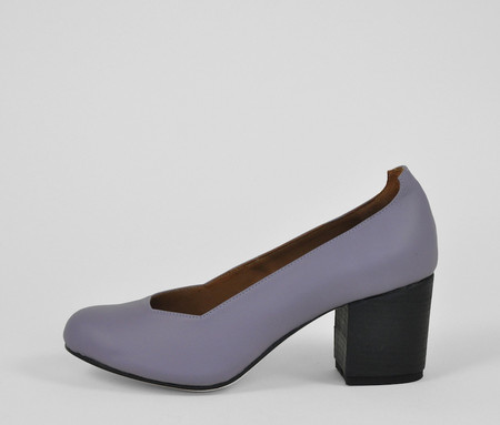 The Palatines Shoes Saturo Pump - Black Hex Leather